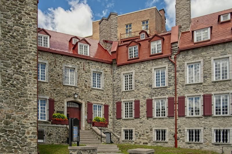 Stad van Quebec van het Chevalier de historische huis stock foto's