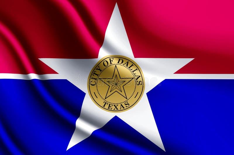 Stad van realistische de vlagillustratie van Dallas vector illustratie