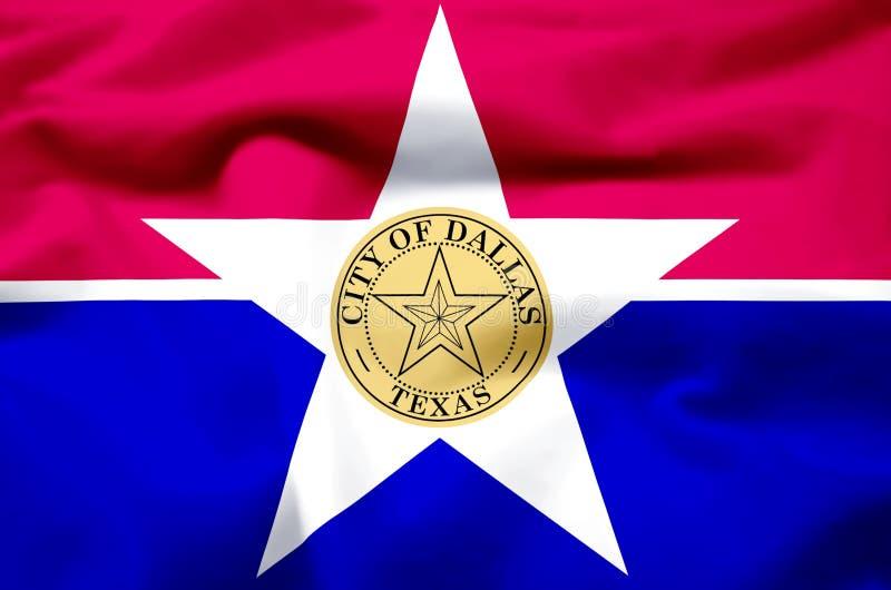 Stad van realistische de vlagillustratie van Dallas royalty-vrije illustratie