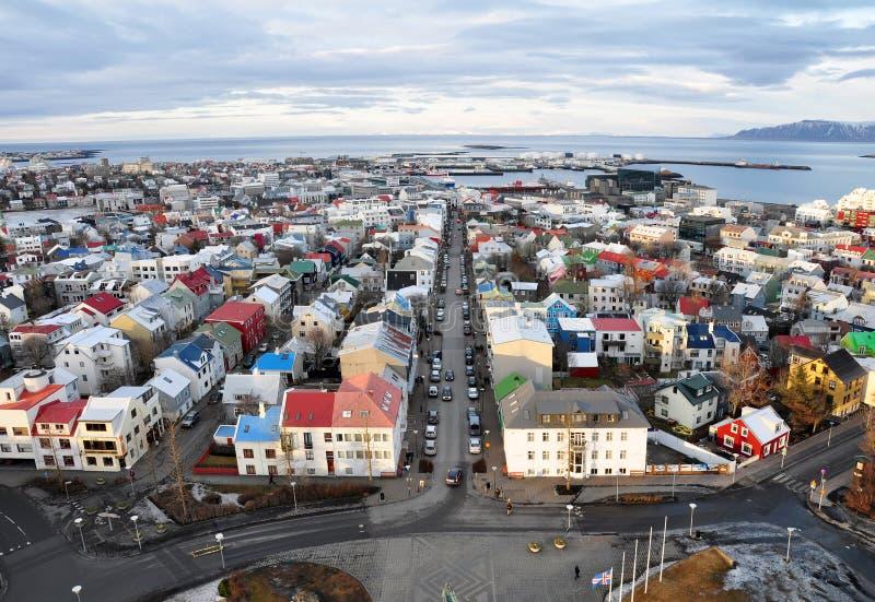 Stad van Reykjavik, IJsland stock afbeeldingen