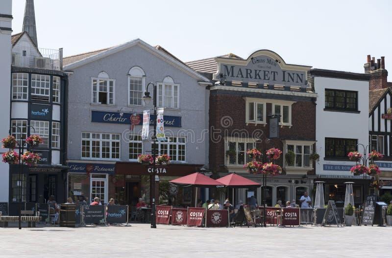 Stad van Salisbury Wiltshire Engeland het UK royalty-vrije stock foto's