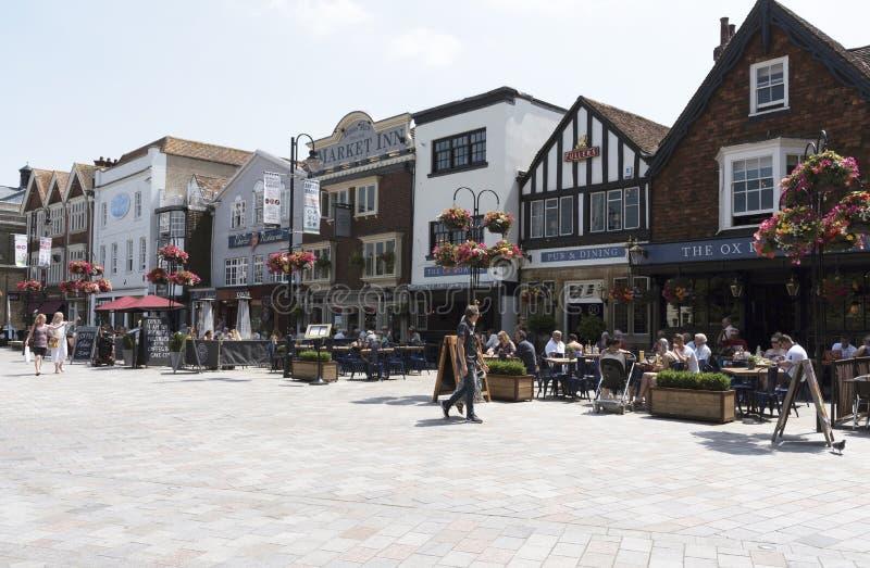 Stad van Salisbury Wiltshire Engeland het UK royalty-vrije stock fotografie