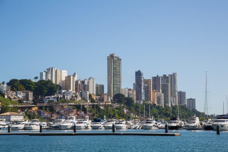 Stad van Salvador de Bahia in Brazilië Beelden van de kust voor royalty-vrije stock fotografie