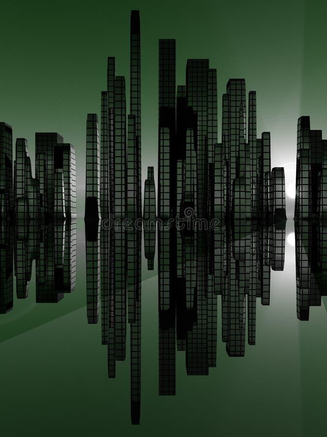 Stad van Soundwave 3 royalty-vrije illustratie