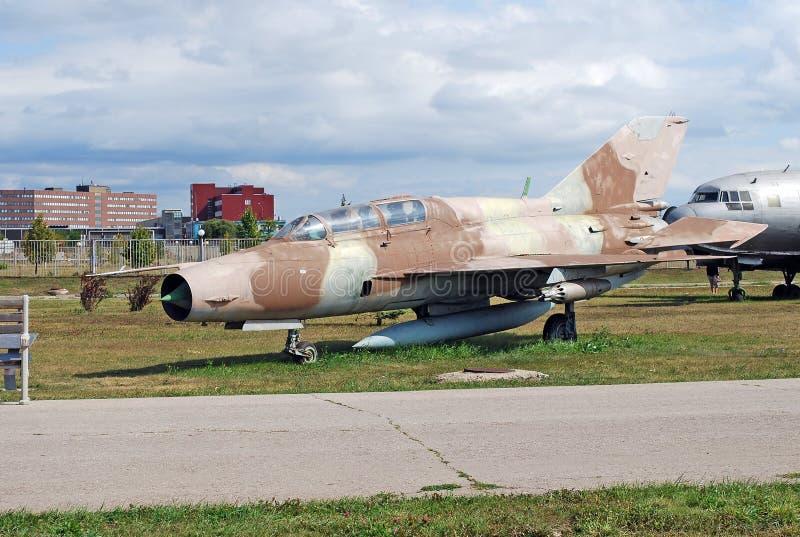 Stad van Togliatti Tentoongesteld voorwerp van museum Sovjet gemakkelijke supersonische vooristebitel van de derde generatie van  stock foto's