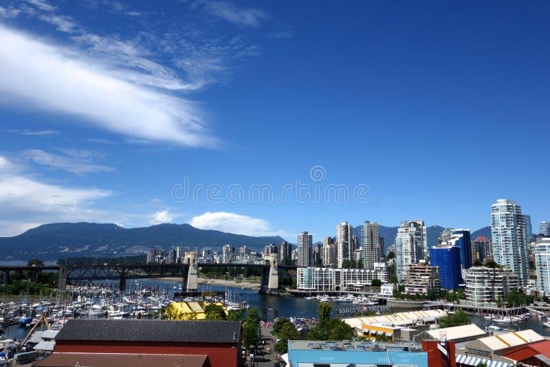 Stad van Vancouver, Canada stock afbeeldingen