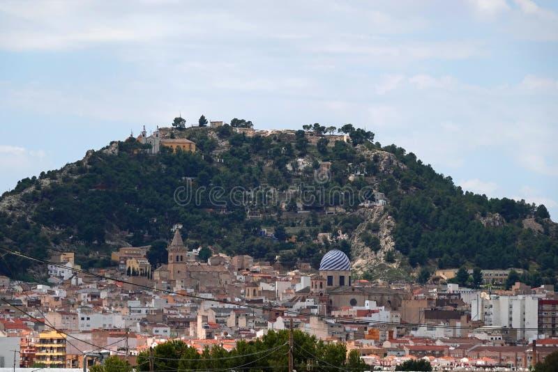 Stad van Yecla in Murcia, Spanje royalty-vrije stock afbeelding