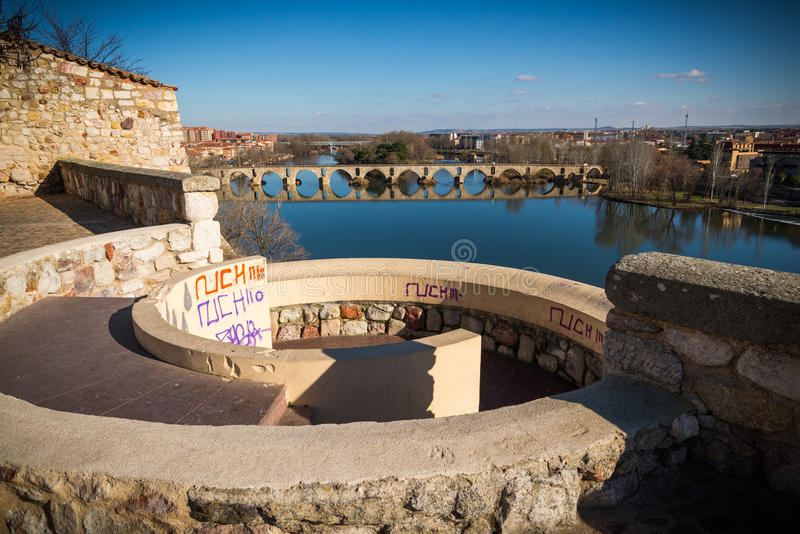 Stad van Zamora stock foto