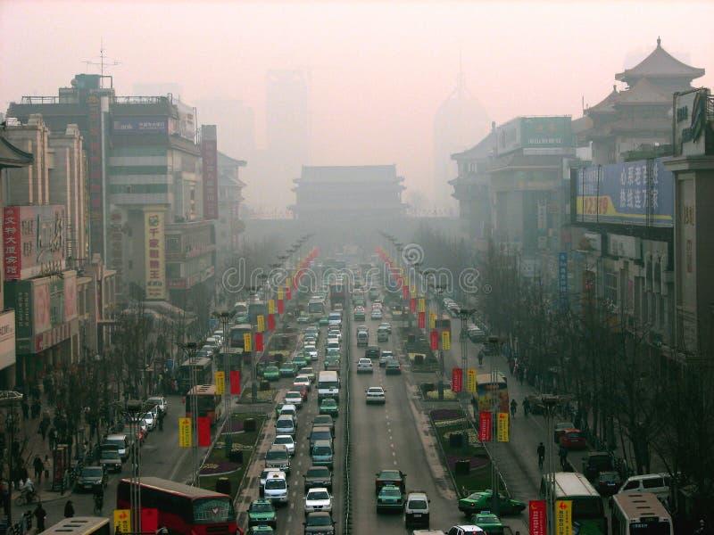 stad xian fotografering för bildbyråer