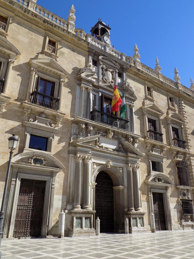 Stad zaal-Granada-Andalusia royalty-vrije stock afbeelding