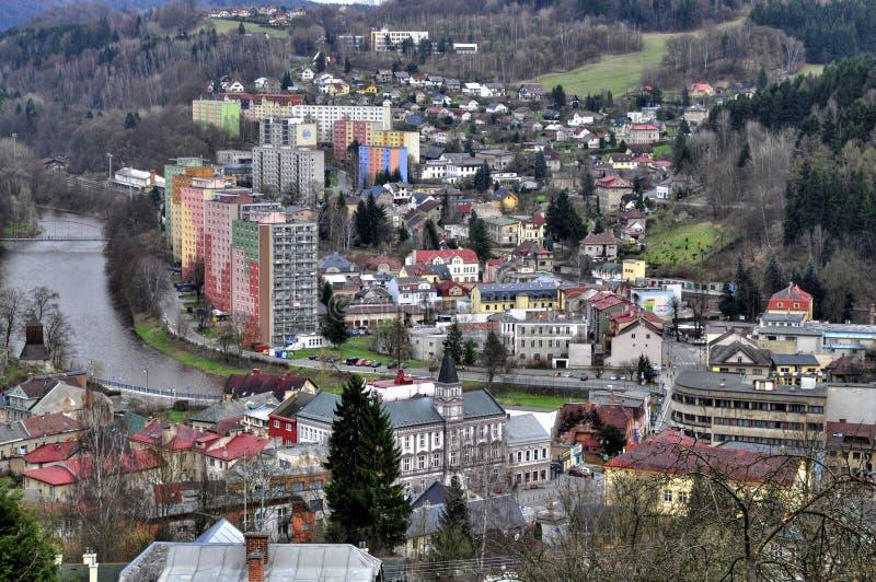 Stad Zelezny Brod royaltyfri fotografi