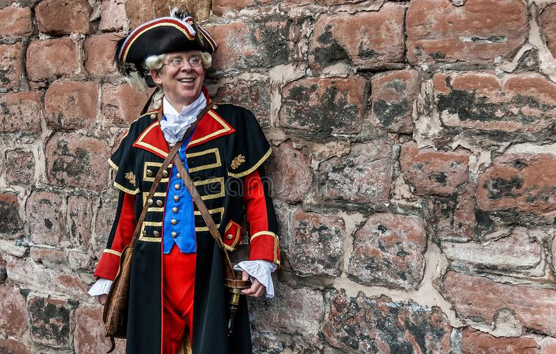 Stadcrieren av Chester royaltyfri bild