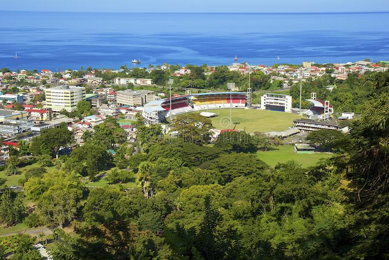 Stade à Roseau, Dominique photo libre de droits