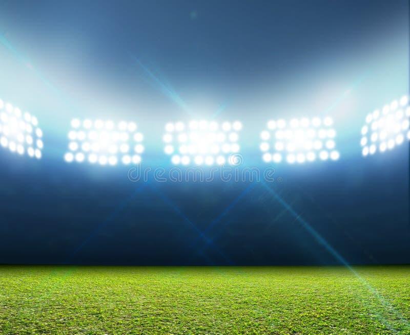 Stade éclairé générique photographie stock