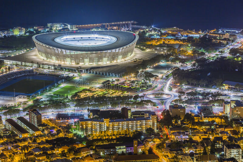 Stade Afrique du Sud de Capetown photo stock
