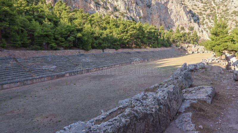 Stade antique à Delphes en Grèce photos stock