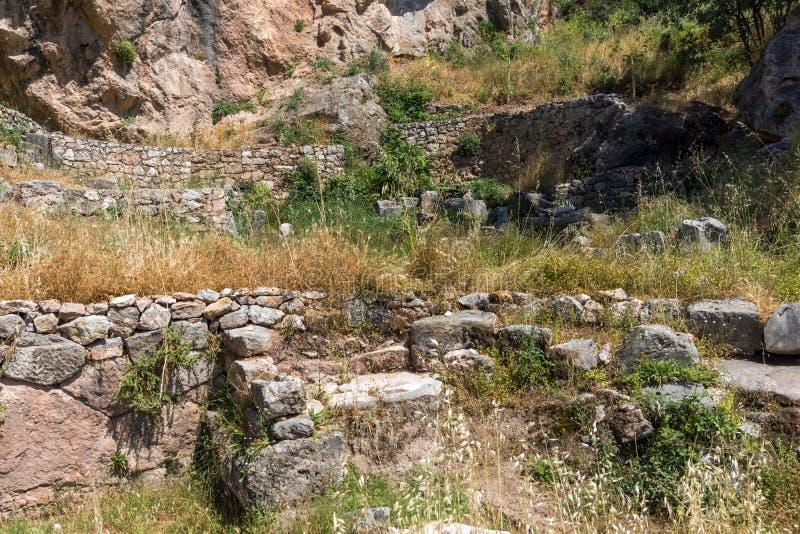 Stade au site archéologique du grec ancien de Delphes, Grèce image stock