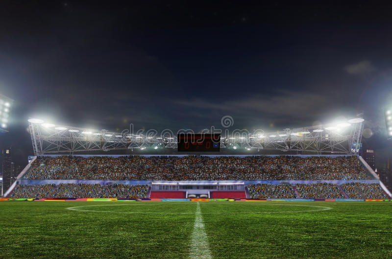 Stade avant le match photographie stock libre de droits