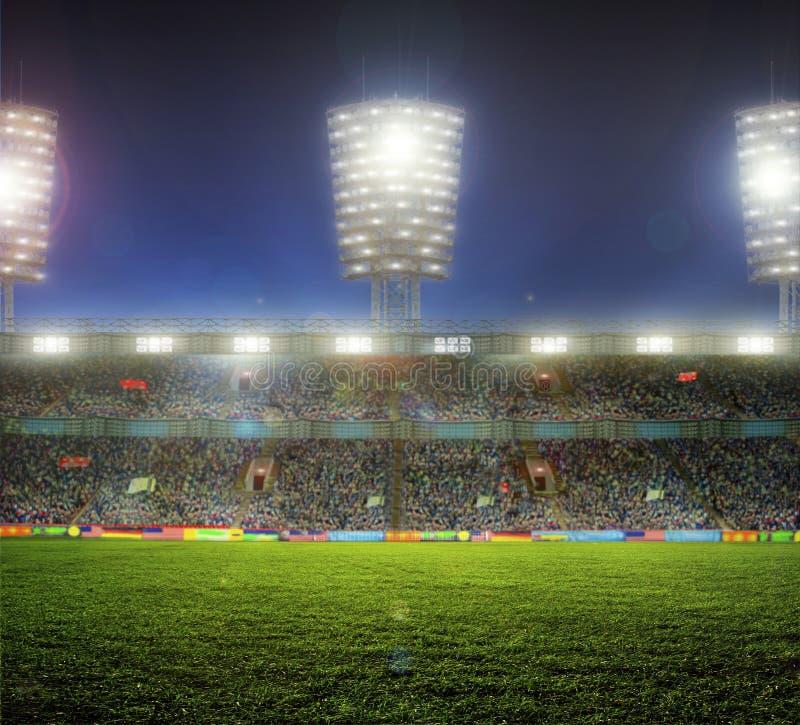 Stade avec des fans image libre de droits