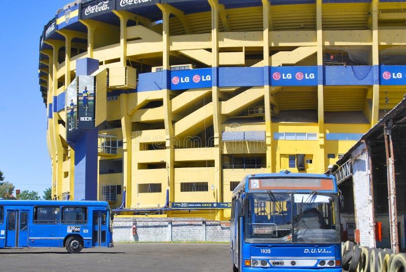 Stade d'équipe de football de Boca Juniors photographie stock libre de droits