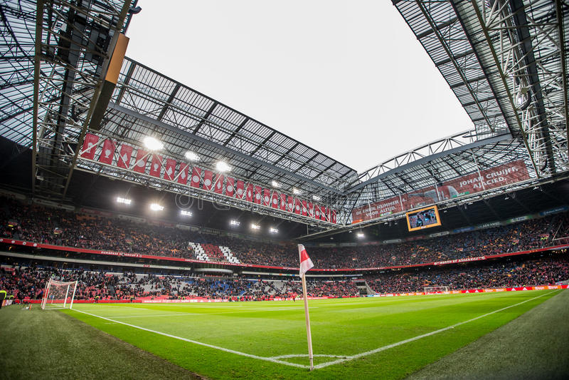 Stade d'arène d'Amsterdam d'aperçu de panorama photos libres de droits
