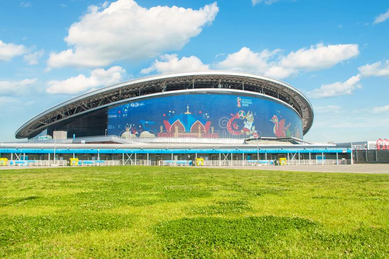 Stade d'arène de Kazan pendant la FIFA 2018 photo stock