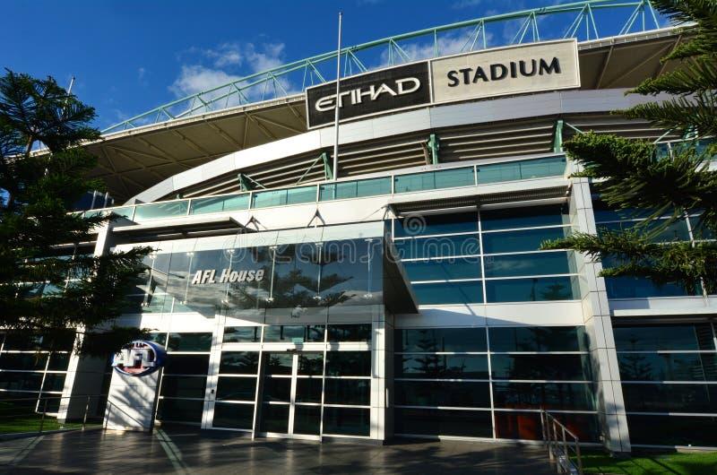 Stade d'Etihad de quartiers des docks - Melbourne images libres de droits