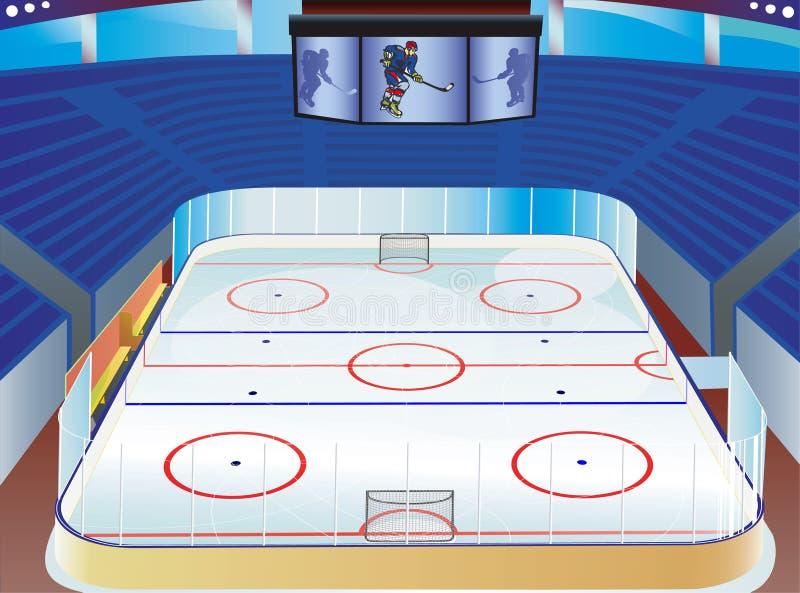 Stade d'hockey. illustration stock