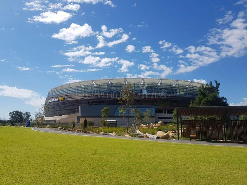 Stade d'Optus dans l'Australie image stock