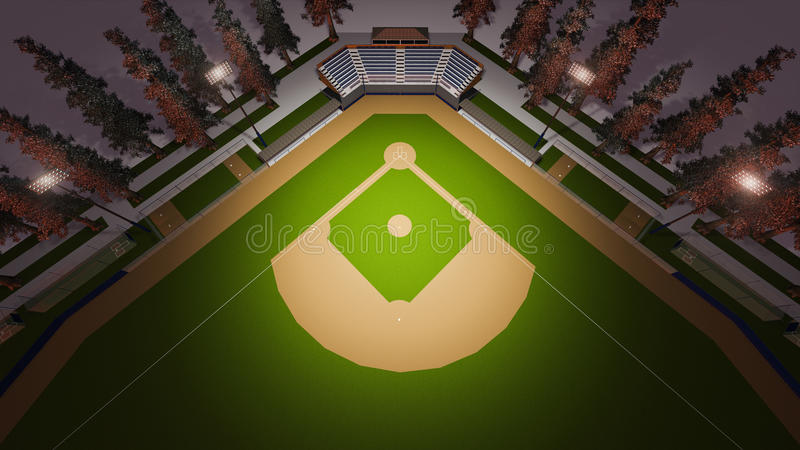 Stade de base-ball illustration de vecteur