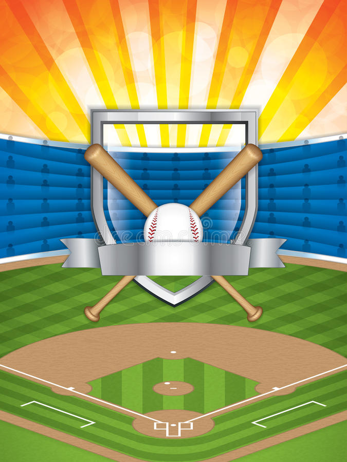 Stade de base-ball illustration libre de droits