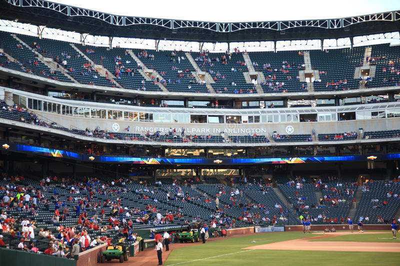 Stade de base-ball de Texas Rangers à Arlington photographie stock