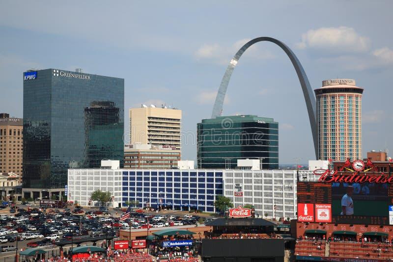 Stade de Busch - cardinaux de St Louis images libres de droits
