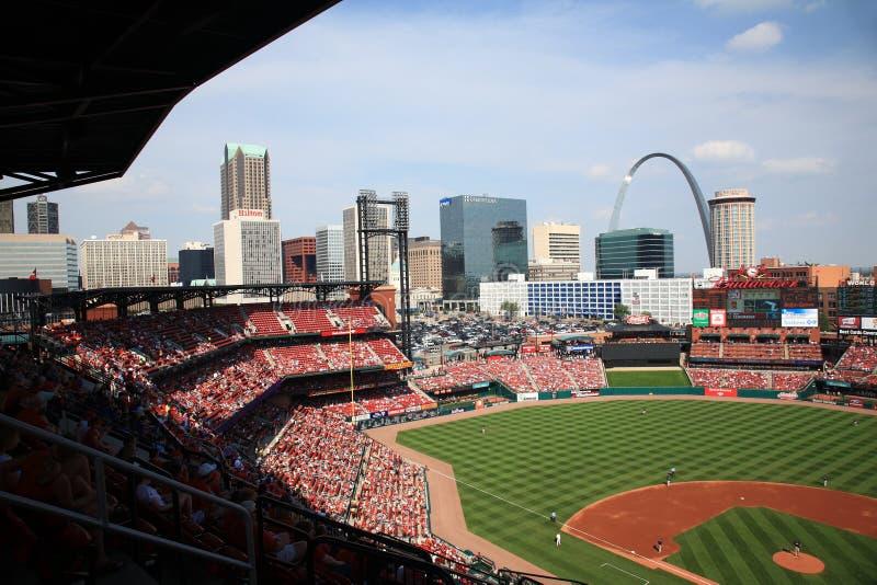 Stade de Busch - cardinaux de St Louis photographie stock libre de droits