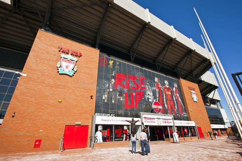 Stade de club du football de Liverpool. photos stock
