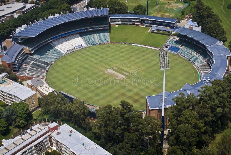 Stade de cricket de vagabonds - antenne photos libres de droits