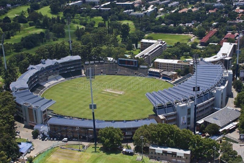 Stade de cricket de vagabonds - antenne image libre de droits