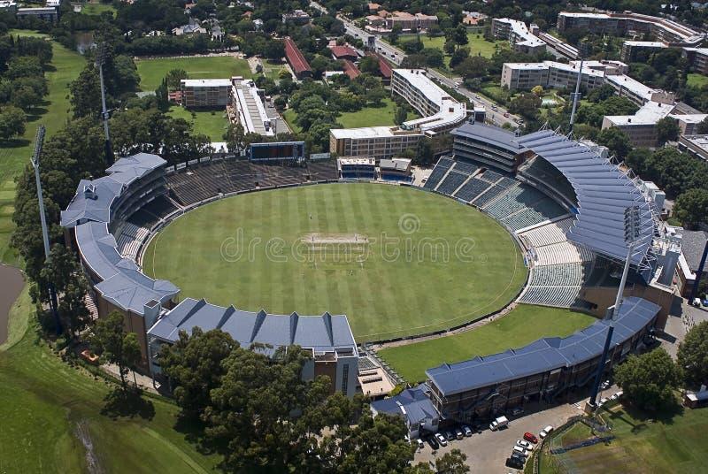 Stade de cricket de vagabonds - vue aérienne photo stock