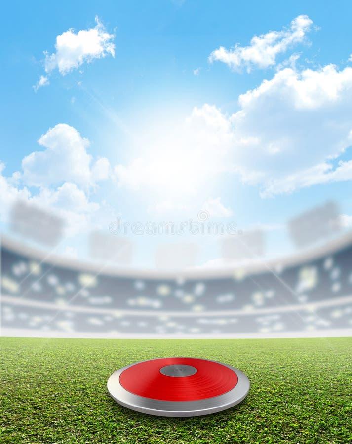 Stade de disque et gazon vert illustration libre de droits