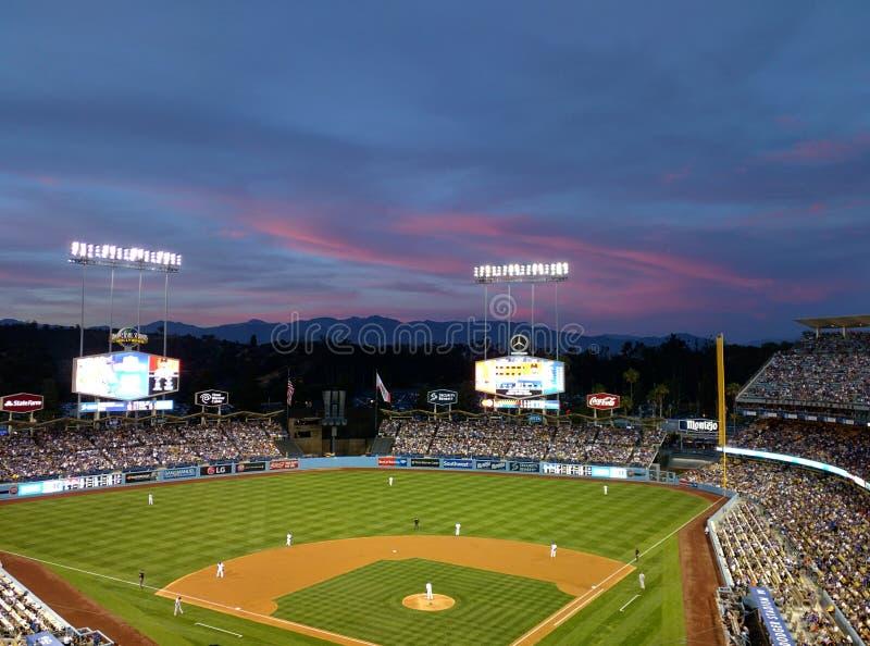 Stade de Dodgers image libre de droits