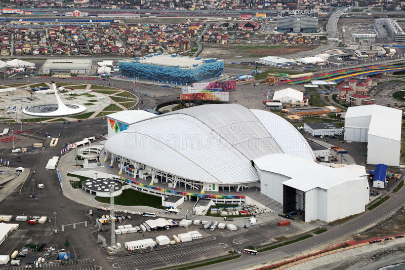 Stade de Fisht Olimpic photos libres de droits