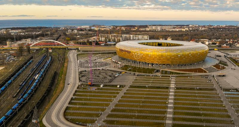 Stade de football à Danzig photos stock