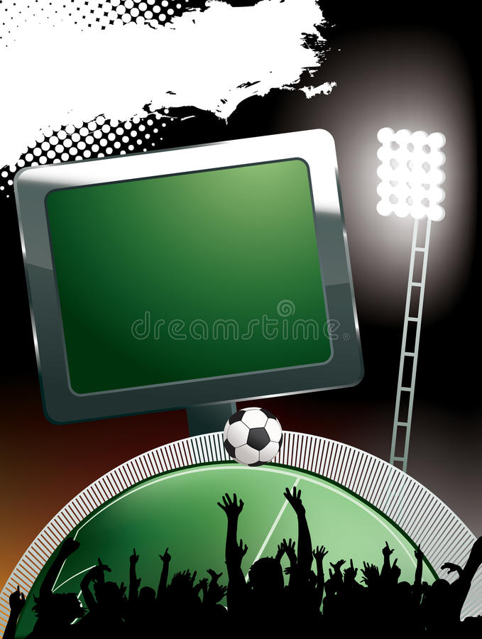 Stade de football illustration libre de droits