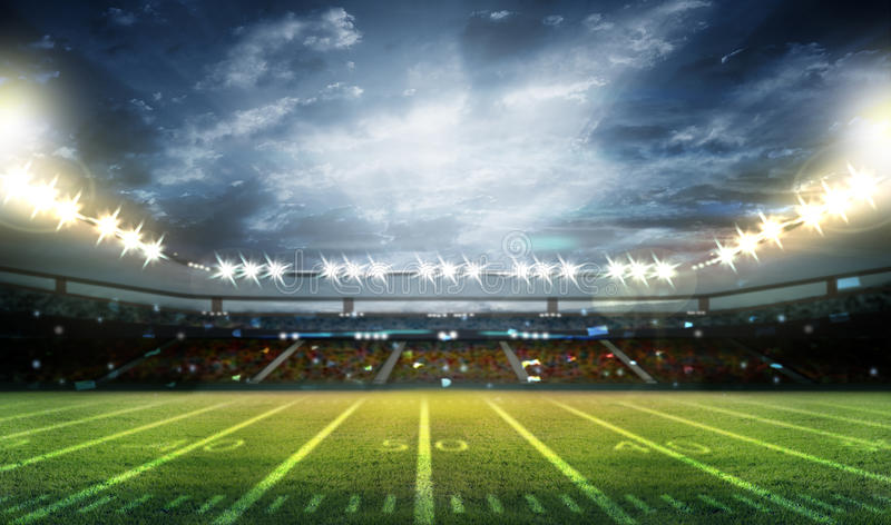 Stade de football américain 3D illustration stock