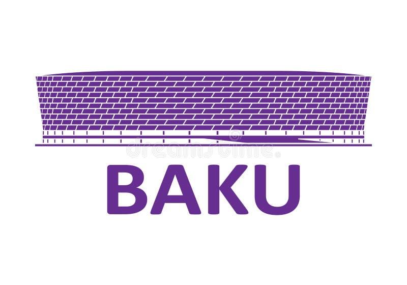 Stade de football bakou photographie stock