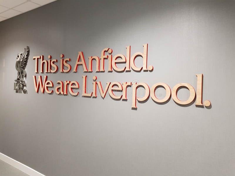Stade de football d'Anfield images stock