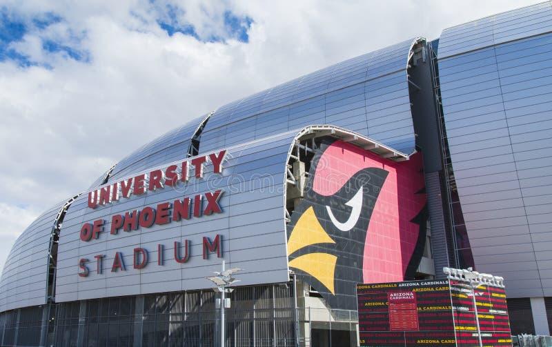 Stade de football d'Arizona Cardinals photographie stock libre de droits