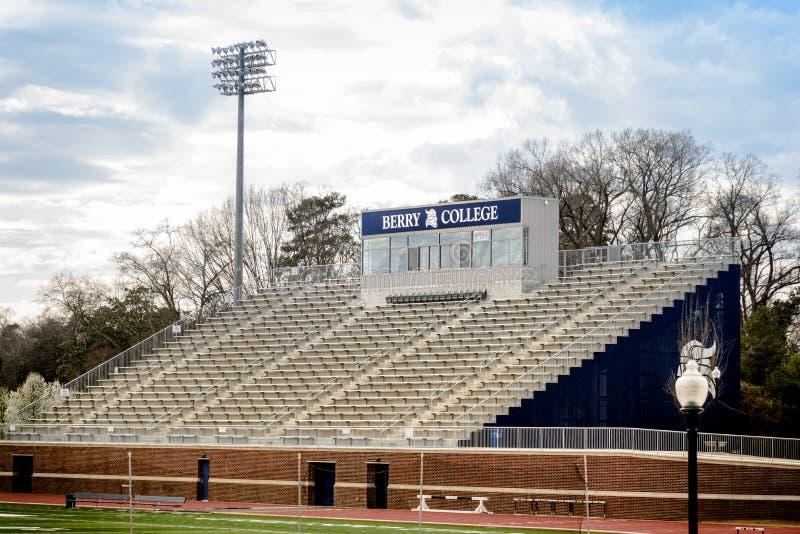Stade de football d'université de Barry avec les sièges vides photos libres de droits