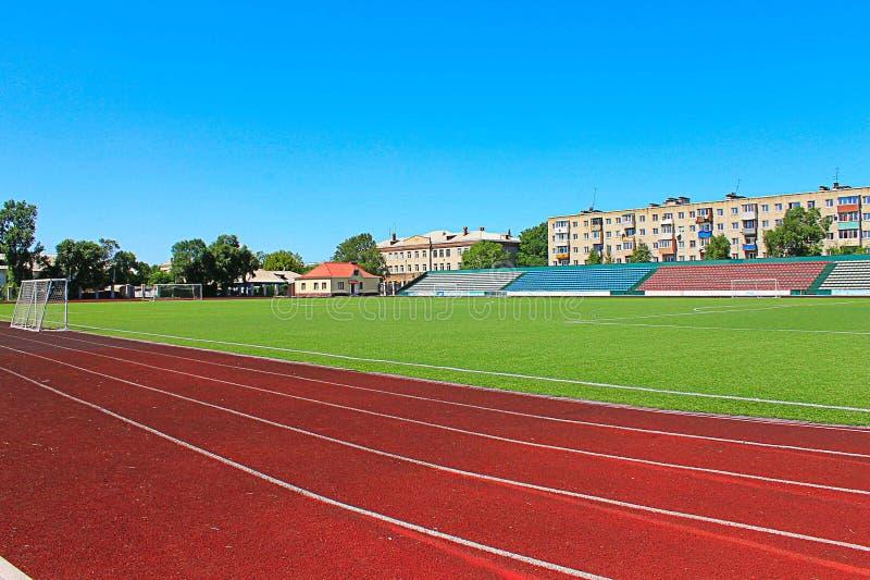 Stade de football de photo photographie stock