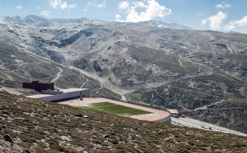 Stade de football de sierra Nevada image stock